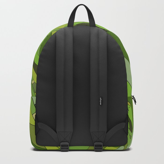 Green Bamboo Leaves Backpack