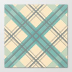 Teal Pastel Plaid Canvas Print