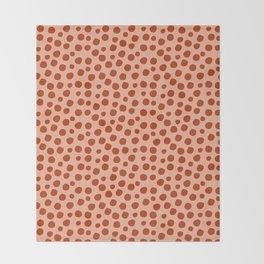 Irregular Small Polka Dots terracota Throw Blanket