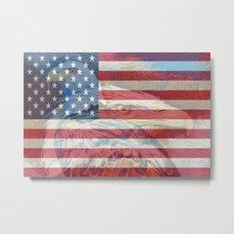 """"""" USA Strong """" Metal Print"""