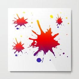 Paint Splotches Metal Print
