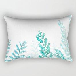 green fern watercolor Rectangular Pillow