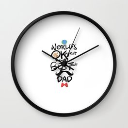 World's Okayest & Bestest Dad Wall Clock