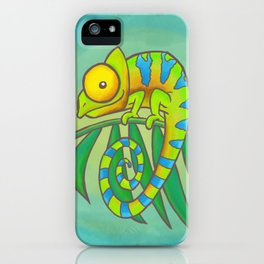 Colorful Chameleon! iPhone Case