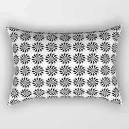 Background abstract, black-and-white pattern, vector, circle texture design. Rectangular Pillow