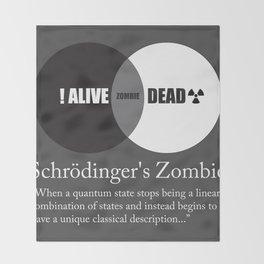 Schrödinger's Zombie Throw Blanket