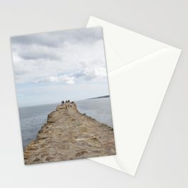 Sea wall St. Andrews Stationery Cards