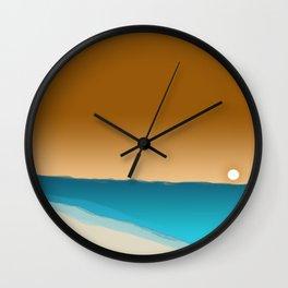beach sunset 2 Wall Clock