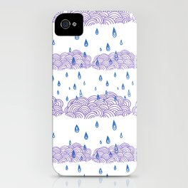 Raindrops keep falling... iPhone Case