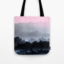 Sunrise Foggy Hills Tote Bag