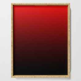 Red and Black Gradient Serving Tray