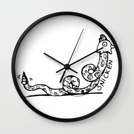 SMITTEN WITH A SNICKEN Wall Clock