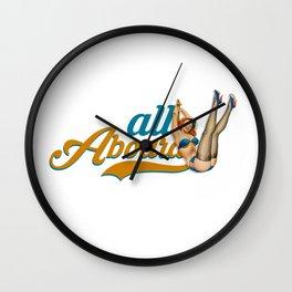 All Aboard Wall Clock