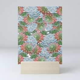 Succulents Pattern #2 #GreenVibes #decor #art #society6 Mini Art Print
