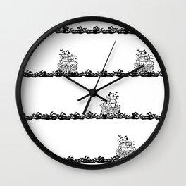 Ships Passing Wall Clock