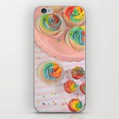 rainbow cupcakes iPhone & iPod Skin