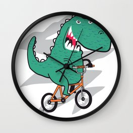 T-rex on a BMX Wall Clock