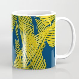 Carved Yellow&Blue Jungle #society6 #decor #buyart Coffee Mug