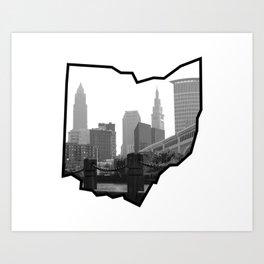 CLE OHIO Art Print