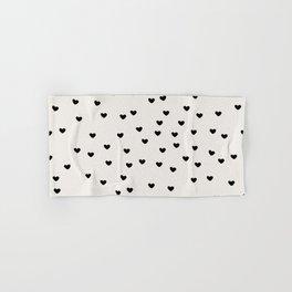 Lots of Little Hearts Brush Strokes Pattern Hand & Bath Towel