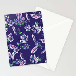 Crystals and Flowers Magickal Stationery Cards