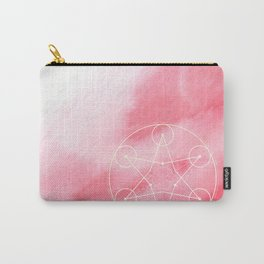 Sacred Geometry Rose Blush Watercolor Carry-All Pouch
