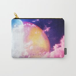 A peaceful illustration with planets and skies. Carry-All Pouch