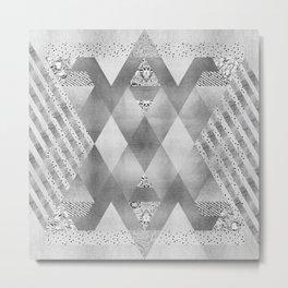 ETHNO Elegance in silver Metal Print