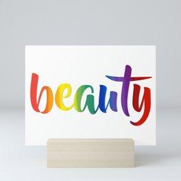Rainbow Beauty #typography #society6 Mini Art Print