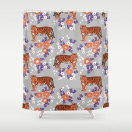 Tigers Orange And Purple Clemson Football Varsity University College Sports  Fan Gifts Shower Curtain