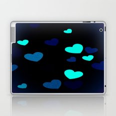 Blue Hearts Laptop & iPad Skin