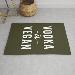 Vodka Is Vegan Funny Quote Rug