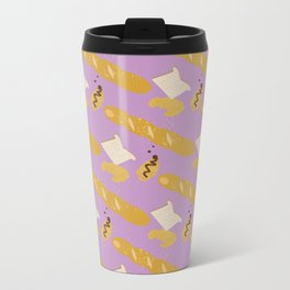 Breakfast Pattern #3 Metal Travel Mug