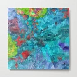 Aqua Paint Metal Print