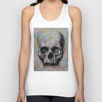 medieval Tank Tops featuring Medieval Skull by Michael Creese