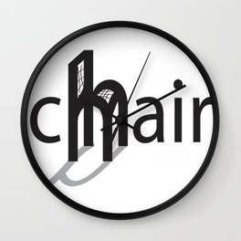 Chair simple Wall Clock
