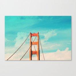 Retro Golden Gate - San Francisco, California Canvas Print