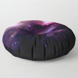Galaxy : Pleiades Star Cluster nebUlA Purple Pink Floor Pillow