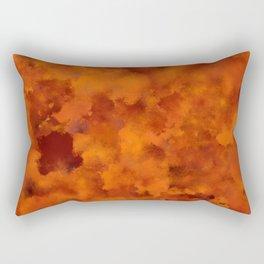 Orange red batic look Rectangular Pillow