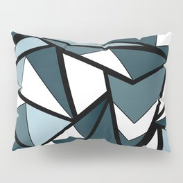 Geometric pattern in grey and white tones . Pillow Sham