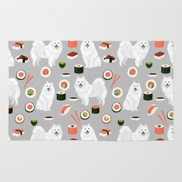 Japanese Spitz sushi kawaii dog portrait custom pet lover pattern by pet friendly Rug