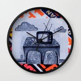 retro TV & Bowl Wall Clock