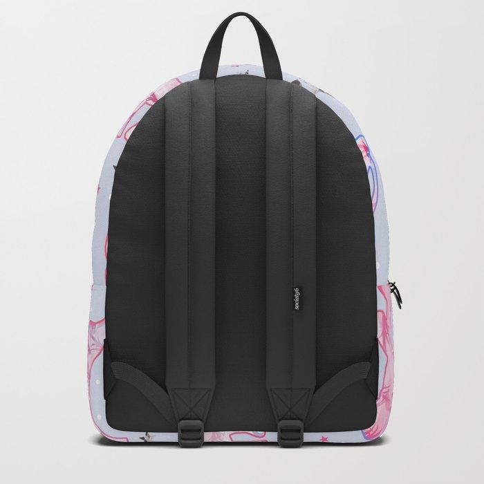 Cute Pastel Tone Elephants Stars Pattern Backpack