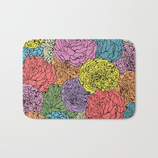 LONG LIVE THE SPRING! (abstract tropical flowers) Bath Mat