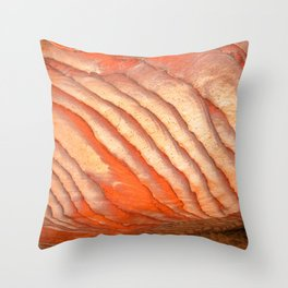Colorful sandstone in Petra, Jordan (Picture 3) Throw Pillow