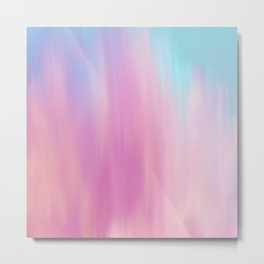 Abstract teal pink watercolor artistic brushstrokes Metal Print