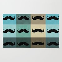 moustache Area & Throw Rugs featuring Moustache by Zetanueta