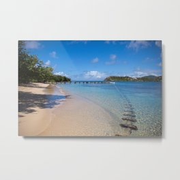 Caribbean beach days- Fine Art Print- Treval photography- summer vibe Metal Print