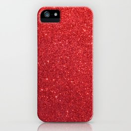 Ruby Red July Leo Birthstone Shimmering Glitter iPhone Case