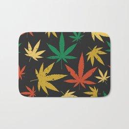 Cannabis Leaf Pattern Bath Mat